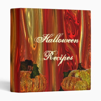 Halloween Recipe Binder
