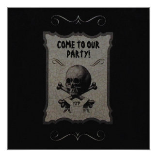 Halloween Remains Invitations