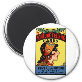 Halloween Retro Vintage Fortune Telling Cards Magnet