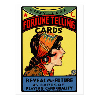 Halloween Retro Vintage Fortune Telling Cards Postcard