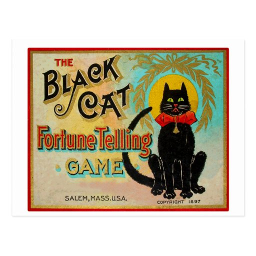 Halloween Retro Vintage Fortune Telling Game Post Card