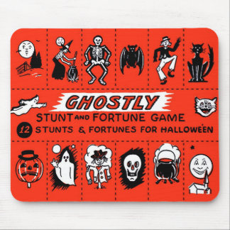 Halloween Retro Vintage Ghostly Stunts Game Mouse Mat