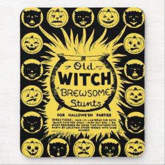 Halloween Retro Vintage Kitsch Brewsome Tricks Mouse Pad