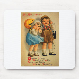 Halloween Retro Vintage Kitsch Cute Kids Mouse Pad