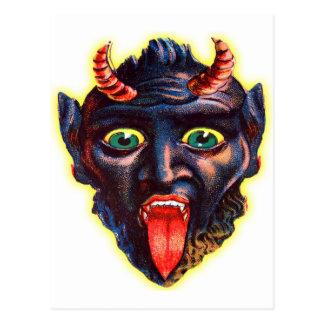Halloween Retro Vintage Kitsch Devil Satan Lucifer Postcard