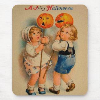 Halloween Retro Vintage Kitsch Jolly Halloween Kid Mouse Pad