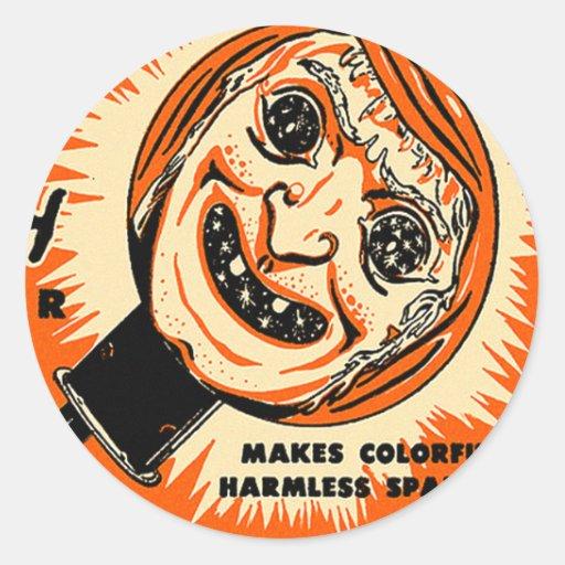 Halloween Retro Vintage Kitsch Old witch Sparkler Stickers