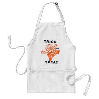 Halloween Retro Vintage Kitsch Trick or Treat Apron