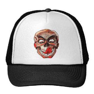 Halloween Retro Vintage Monsters Hungry Skull Trucker Hat