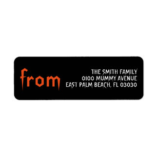 HALLOWEEN RETURN ADDRESS RETURN ADDRESS LABEL