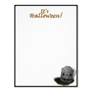 Halloween RIP Cemetery Grave Marker Flyers