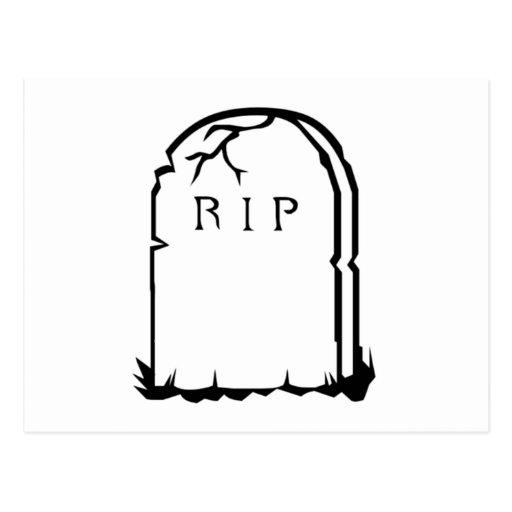 Halloween RIP Tombstone Postcards