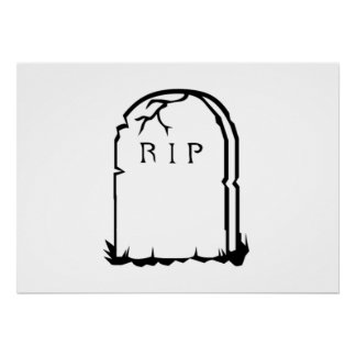Halloween RIP Tombstone Poster