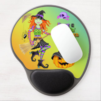 Halloween Rockin Witch Gel Mouse pad