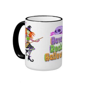 Halloween Rockin Witch Mugs