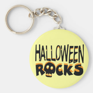 Halloween Rocks Basic Round Button Key Ring
