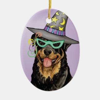 Halloween Rottweiler Christmas Ornament