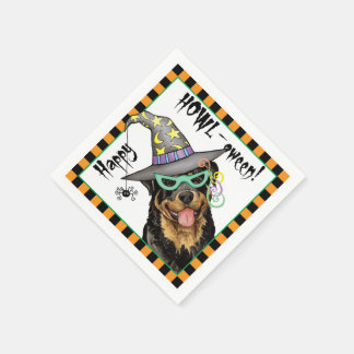Halloween Rottweiler Disposable Napkin