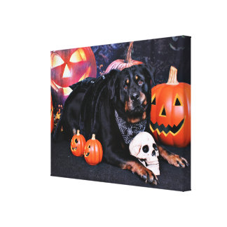 Halloween - Rottweiler - Max Canvas Print