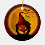 Halloween Round Ceramic Decoration