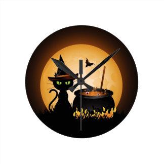 Halloween Round Clock