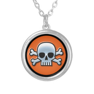 Halloween Round Pendant Necklace