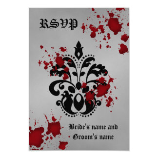 Halloween rsvp wedding card