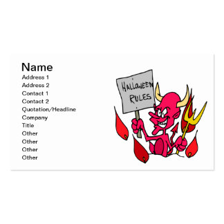 Halloween Rules Pack Of Standard Business Cards