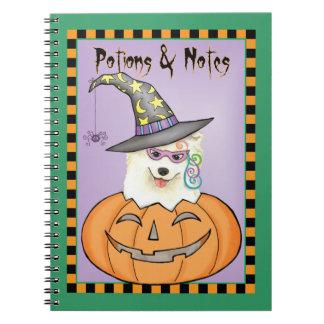 Halloween Samoyed Notebooks