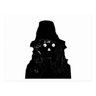 Halloween Scarecrow Black The MUSEUM Zazzle Gifts Post Card