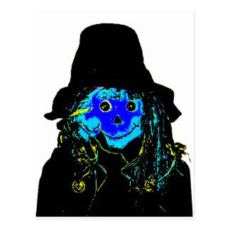 Halloween Scarecrow Blue The MUSEUM Zazzle Gifts Postcards