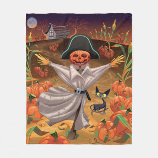 Halloween Scarecrow Fleece Blanket