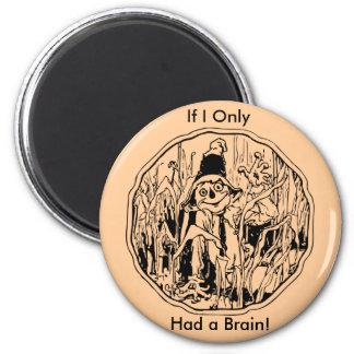 Halloween Scarecrow No Brain Magnet