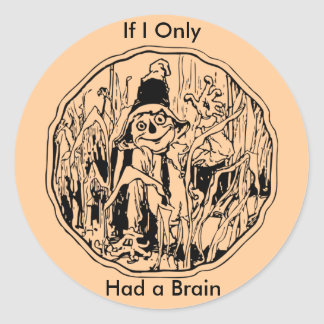 Halloween Scarecrow No Brain Sticker