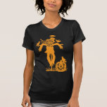 Halloween Scarecrow Silhouette T Shirt Tshirt
