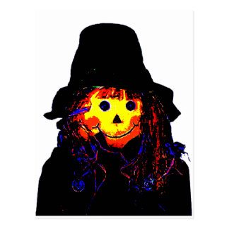 Halloween Scarecrow Yellow The MUSEUM Zazzle Gifts Postcards