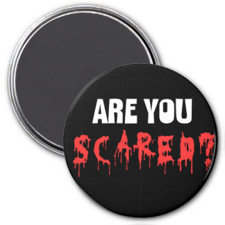 Halloween scared magnet