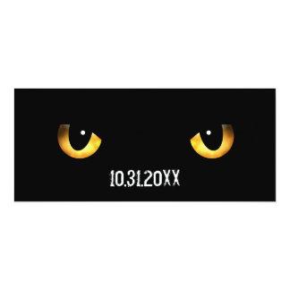 Halloween Scary Cat's Eyes 10 Cm X 24 Cm Invitation Card
