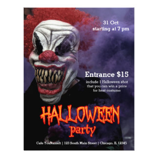 Halloween Scary Clown Flyer