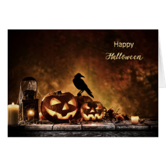 Halloween - Scary Halloween Scene Card