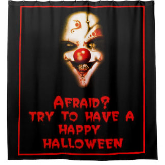Halloween Scary Mask Shower Curtain