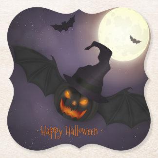 Halloween - Scary Pumpkin Bat - All Opt Paper Coaster