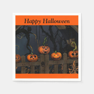 Halloween Scary Pumpkins Kids Party Paper Napkin