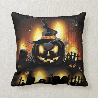 Halloween - Scary Pumpkins w/Hat Cushion