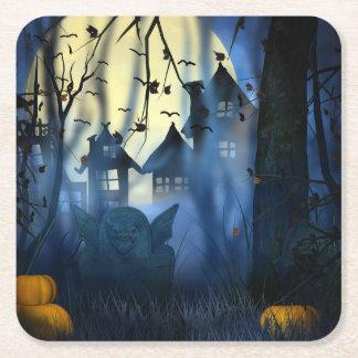Halloween Scary Scene 1 - Goblin Square Paper Coaster