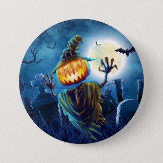 Halloween Scary Scene (5) Pumpkin All Options 7.5 Cm Round Badge