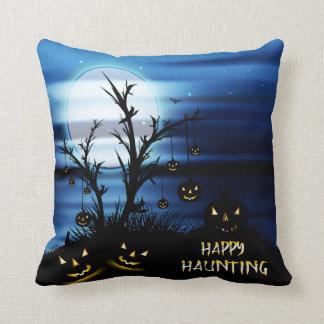 "Halloween Scary Scene 6 ""Happy Haunting"" Cushion"