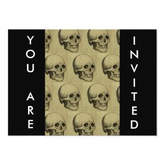 Halloween Scary Skulls Design Personalized Invite
