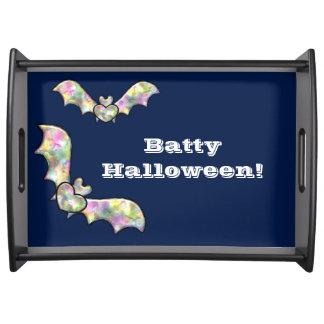 Halloween Serving Tray Bat and Heart Batty