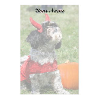 Halloween Shih Tzu dog Customized Stationery